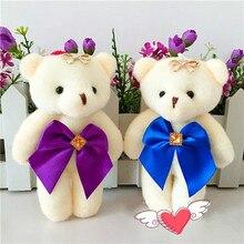 Комикс букет из алмаз плюш медведь кукла свадьба присутствует дети игрушка телефон ключ кулон