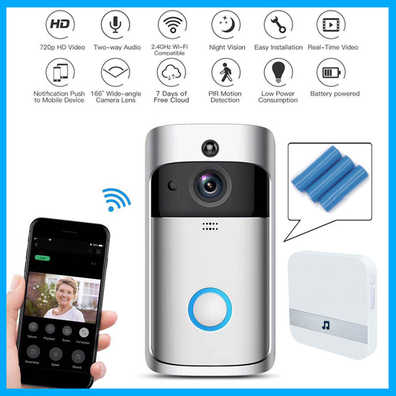 Wifi türklingel Kamera Smart WI-FI Video Intercom Tür Glocke Video Anruf Für Wohnungen IR Alarm Drahtlose farbe objektiv Sicherheit Kamera