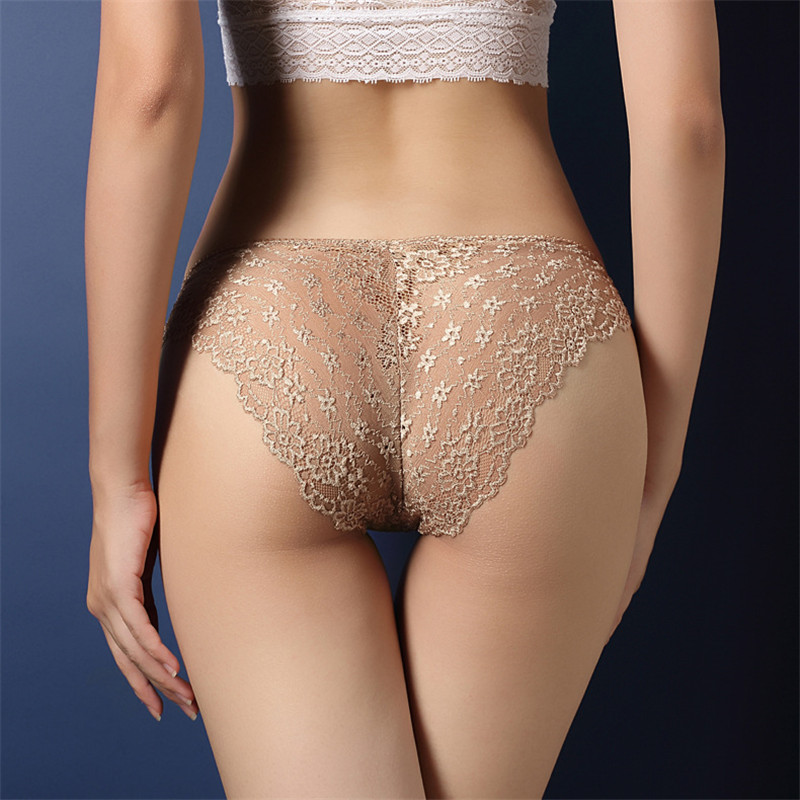 Fashion Women Underwear Sexy Lace Transparent Low Waist Hollow T Back   Panties   Lady Briefs   Panties   Hot