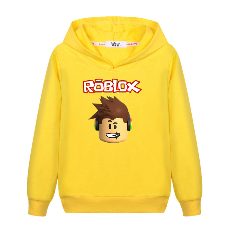Kids Hat Sweatshirt Boys Roblox Cartoon Hoodie Autumn Winter