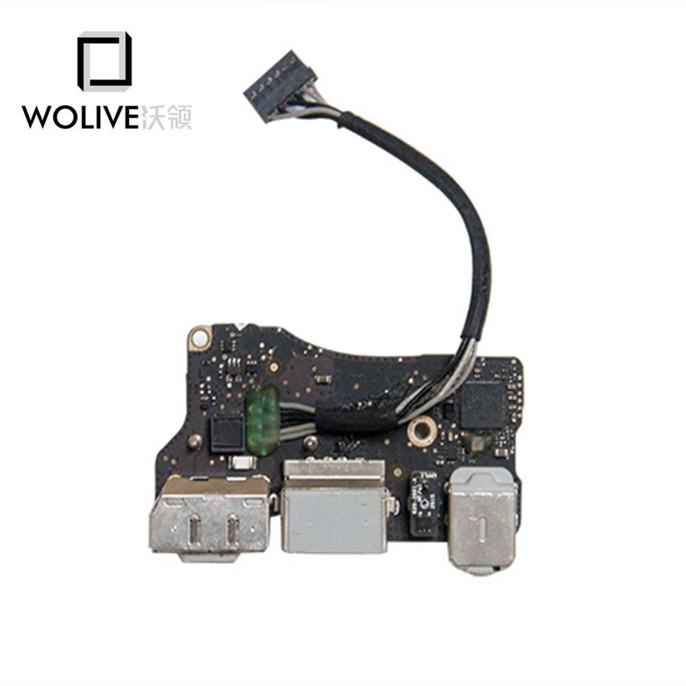 Genuine I/O Board USB DC Power jack For MacBook Air 11 A1370 Magsafe DC-IN Jack 820-3053-A MC968 MC969 2010 2011