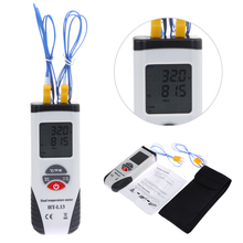 Best price Digital Thermometer Temperature Meter Tester Dual Input Thermometer -200~1372C LCD Handheld Temperature Meter Tester