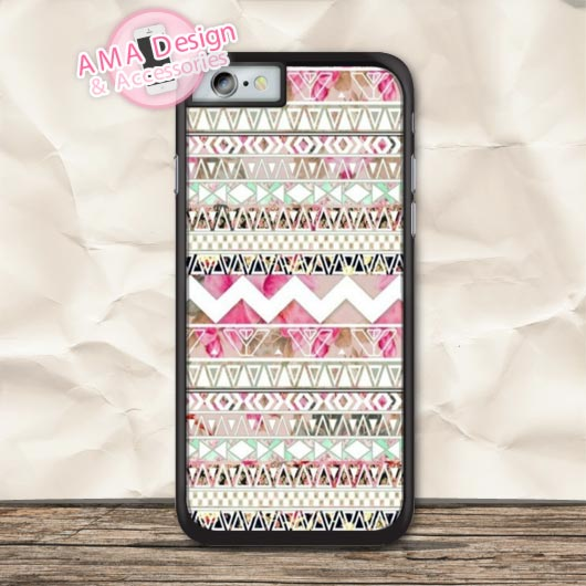 Ethnic Pastel Aztec Lovely Protective Case For iPhone X 8 7 6 6s Plus 5 5s SE 5c 4 4s For iPod Touch