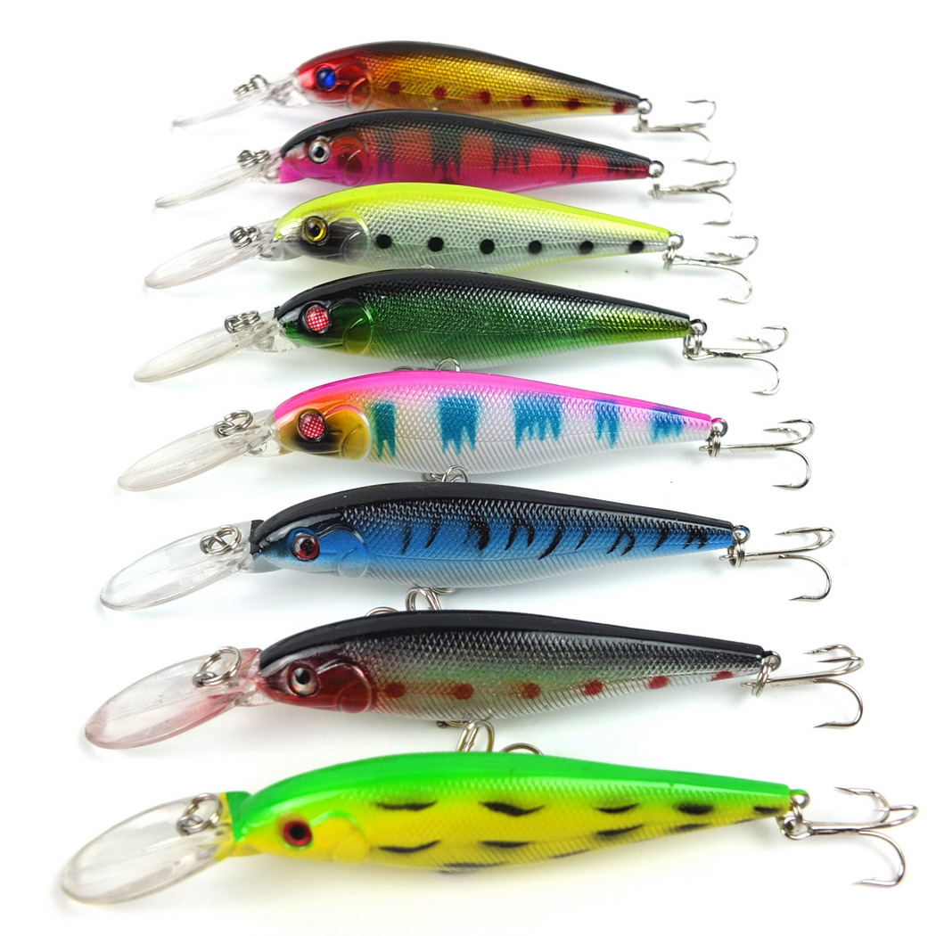 8PCS Smith lure Minnow Fishing lures 11cm 10g high carbon steel hooks hard bait pesca fish isca artificial fishing tackle top grade japan sea fishing lure trolling big bait hard lures soft tail bkk hooks isca artificial pesca fish crankbait 165mm 55g