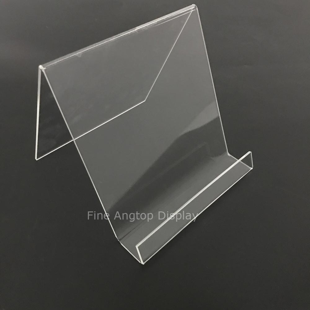 10 Large Wide Black Perspex Acrylic Plastic Plate Retail Display Stand Holder