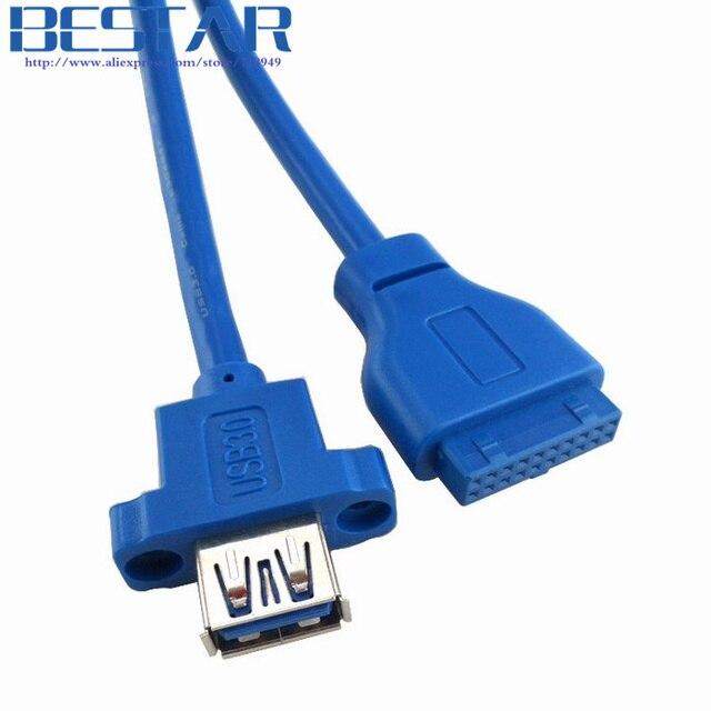 Single Port USB3.0 USB 3.0 Female Screw Mount Panel Type to ...