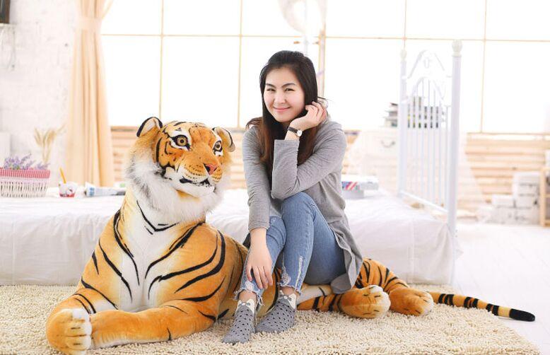 Dessin animé créatif simulation sujet tigre plus grande 170 cm en peluche dos coussin jeter oreiller jouet décoration de la maison cadeau d'anniversaire a1269
