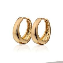 Праздничные золотые серьги-кольца для женщин, модные серьги,, 8E18K-09