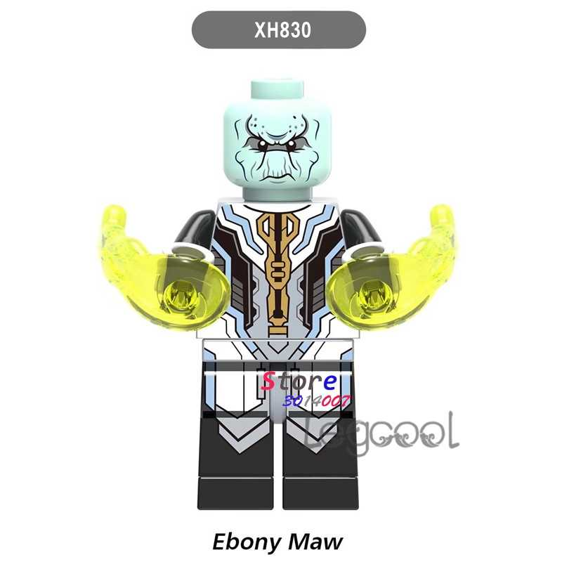 1 piezas de bloques de construcción de acción superhéroes Ebony Maw ladrillos para kits de chico chicas DC diy juguetes para niños de regalo