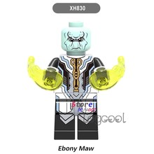 1PCS model building blocks action superheroes Ebony Maw bricks for kits kid girls DC diy toys for children gift(China)