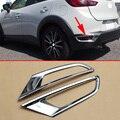 Хромированный автомобильный Стайлинг ABS литьевая крышка аксессуары для 2016-2019 Mazda CX-3 DK двухсторонняя задняя противотуманная фара бампер отр...