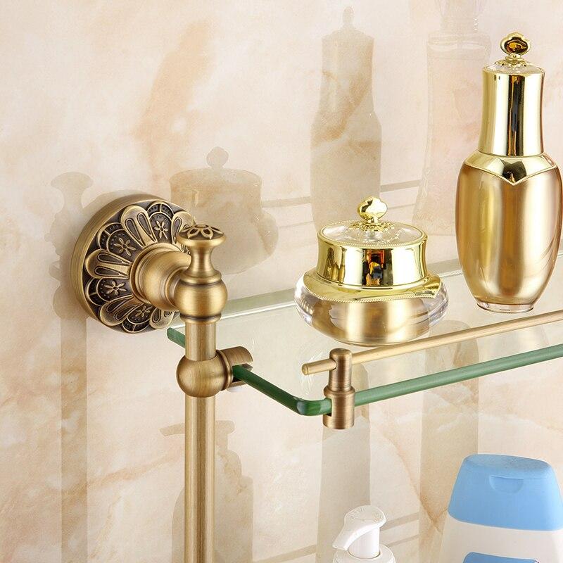 prateleiras do banheiro comprimento cor bronze 45 cm 04