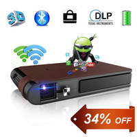Mini Portable Pocket 3D DLP Projector LED Home Cinema Full HD Video Android WIFI Bluetooth Beamer For Smartphone TV iPhone