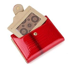 Image 2 - Billetera de cuero de moda para mujer, monedero pequeño, bolsillo para monedas, tarjetero de cuero auténtico