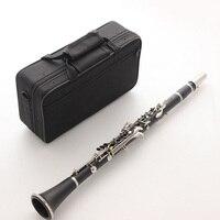 PC client wersja Francuska marka 17 klucz spada dostroić B klarnet, bakelitu Bb klarnet nauka Instrumenty muzyczne z bezpłatnym torba