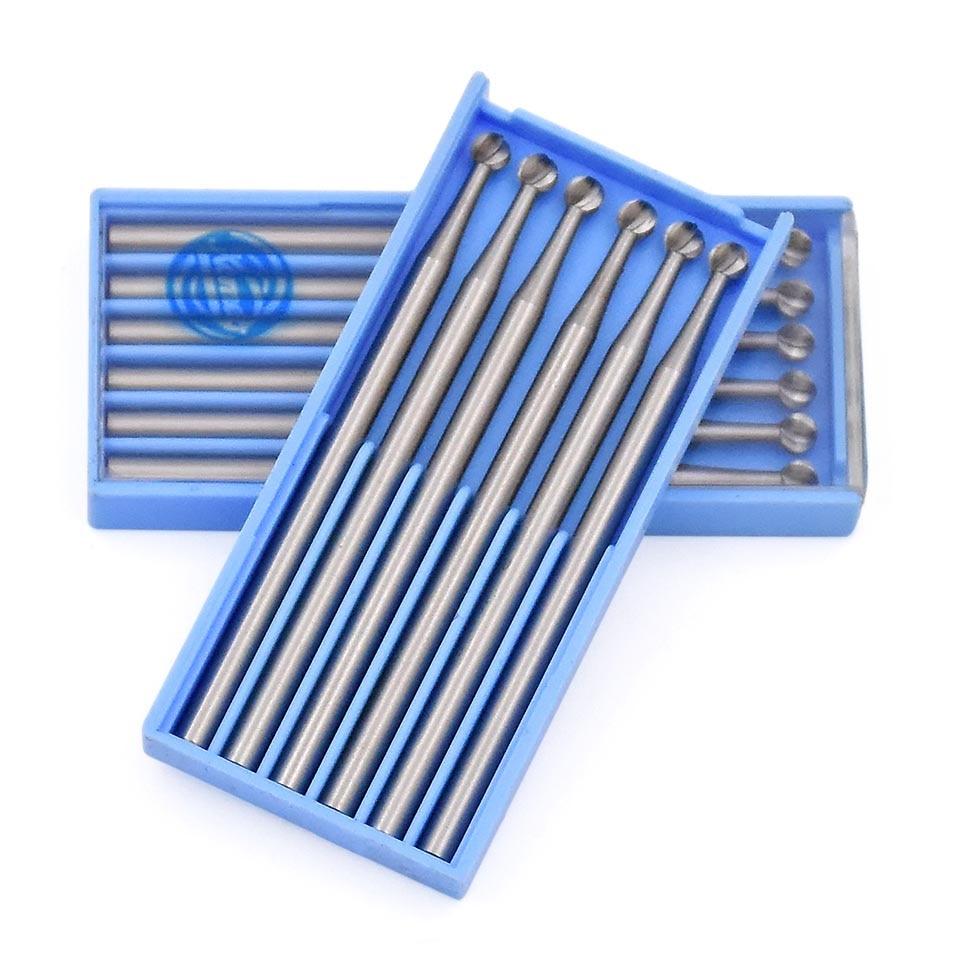 6 sztuk Obrotowe narzędzie ścierne Laboratorium dentystyczne Polerowanie Wykończenie Okrągłe wiertła Roatary Shank 2,35 mm Do narzędzia Dremel Akcesoria