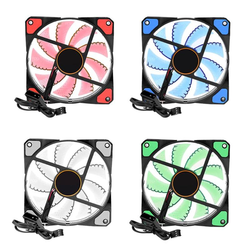 ALLOYSEED Computer Cooler Fan 120mm High Air Flow DC 12V 1500RPM 3pin Cooling Fans for PC Case / CPU Cooler / Water Cooling 1u server computer copper radiator cooler cooling heatsink for intel lga 2011 active cooling