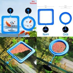Aquarium Fish Tank Fish Food Feeding Automat Plastic Circle Ring Square Feeder Floating Feeder Fish Feeding Tools