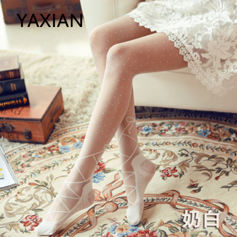 White Grey 3D System Luxury Patterned Autumn Thicker Tights Pantyhose T41