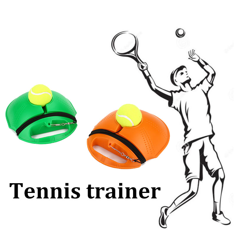 Hot Heavy Duty Tennis Training Tool Exercise Tennis Ball Self-study Rebound Ball With Tennis Trainer Baseboard Sparring Device
