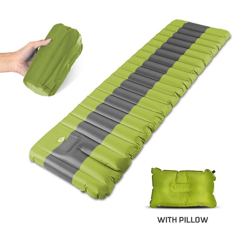 Nuevo inflar el colchón inflable para acampada almohadilla para dormir al aire libre de humedad de aire inflable colchón de natación piscina flotante Pad - 3