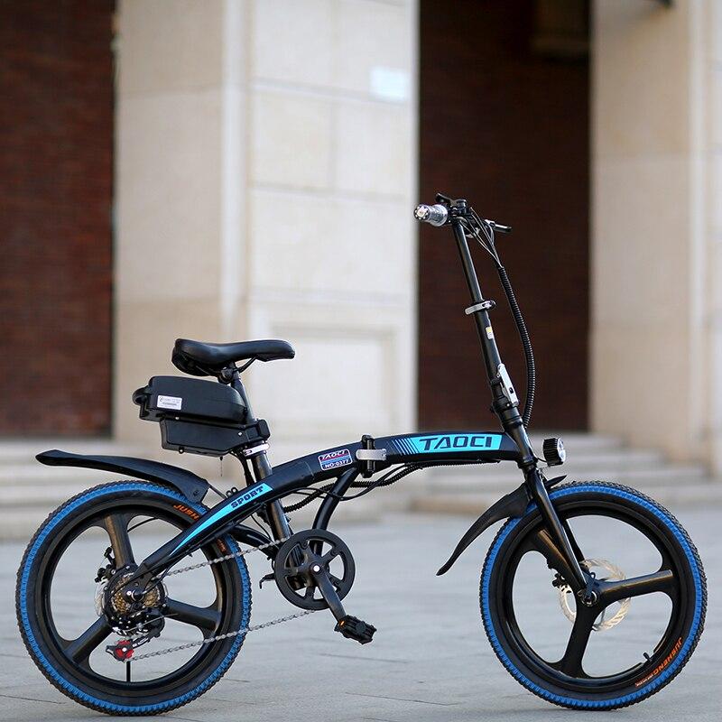 Dual 20 polegada Cidade de Freio A Disco Bicicleta Elétrica Dobrável Bateria de Lítio bicicleta elétrica Bicicleta ebike 36V350W 10AH Senhoras entrega gratuita