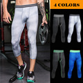 Men Pro Sporting Gymming QUICK-DRY Workout Compress Capri Cropped Legging Bodybuilding Runs Slim Fitness Yogaing Pants MA23