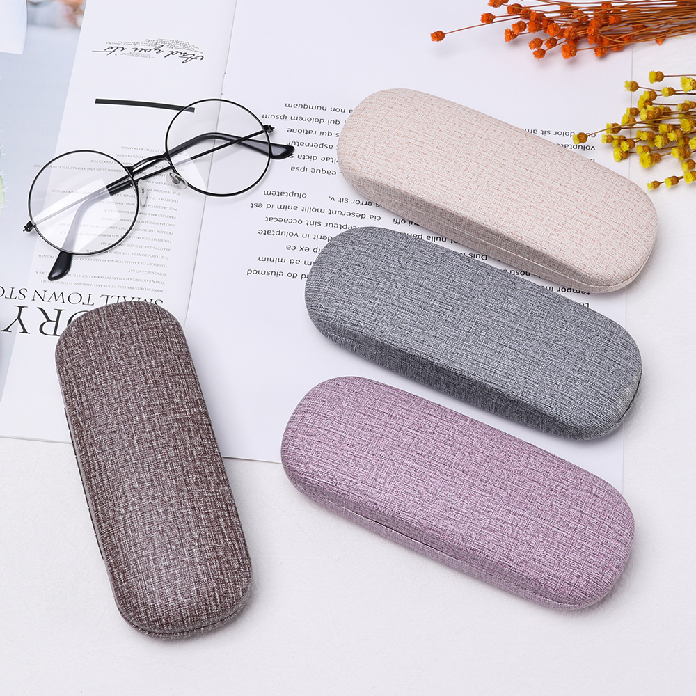 1Pcs New Fashion Pretty Reading Eyewear Case For Men Women Kids Leather Eye Glasses Hard Shell Protector Sunglasses Box Case
