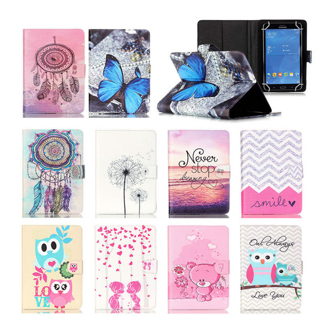Cute Printed Leather case For Huawei MediaPad 7 Youth 2 S7-721U 7.0 inch Universal tablet covers For ASUS Google Nexus 7