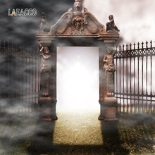 Laeacco Heaven and Hell Door Background Poster Jesus Believer Photography Party Scene Photographic Backdrop For Photo Studio