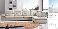 Top graduada sofá de couro de vaca/seccional sala de estar sofá design moderno venda quente 9017 + sofá única cadeira + chaise