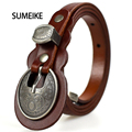 Belts For Women Genuine Leather Vintage Fashion Womens Dress Belts Designer Brand Ladies Belt