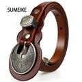 Cinturones cinturones Para Las Mujeres Vestido de Moda Para Mujer de Cuero Genuino de La Vendimia Diseñador de la Marca de Las Señoras Cinturón