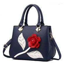 цены на High Quality Women Lady PU Leather Rose Flower Shoulder Bag Handbag Satchel Tote Purse Messenger Hobo Satchel Crossbody 2019 New  в интернет-магазинах