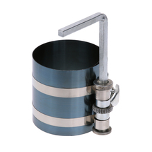 4 inch 53 175mm Steel Car Engine Piston Ring Compressor Tool Installer Band Ratcheting with L