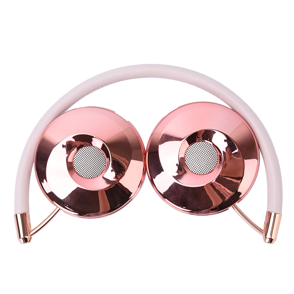 Liboer Headphones Wired On ear Stereo Headphones for Mobile Phone Best Foldable Headset High Quality Rose Gold Headphone in Headphone Headset from Consumer Electronics