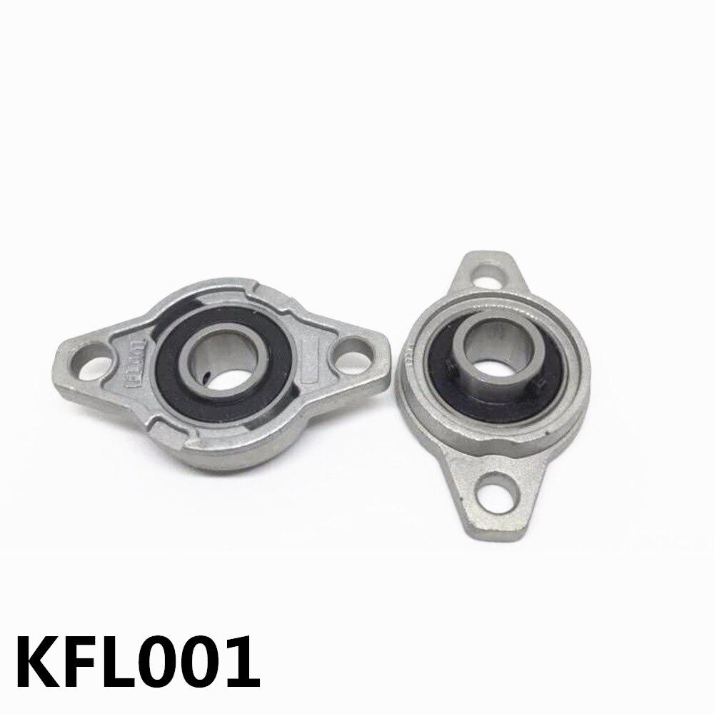 2 шт. KFL001 опорный подшипник из цинкового сплава с креплением диаметр отверстия 12 мм ромбовидный фланцевый подшипник