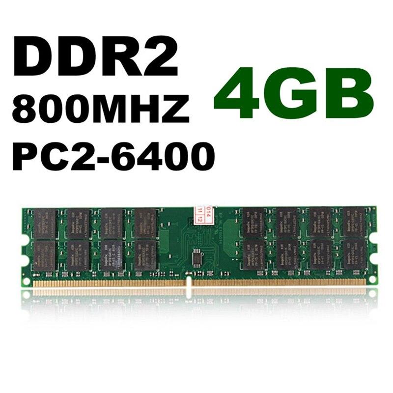 New Hot 2 Pcs 4GB DDR2 800MHZ PC2 6400 240 Pins Desktop Memory RAM For AMD Motherboard