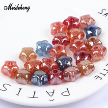 Acrylic UV Beads Silver Powder charms effect Single Half Hole Colorful DIY Materials Hair Ornaments Accessories for Jewelry Gift