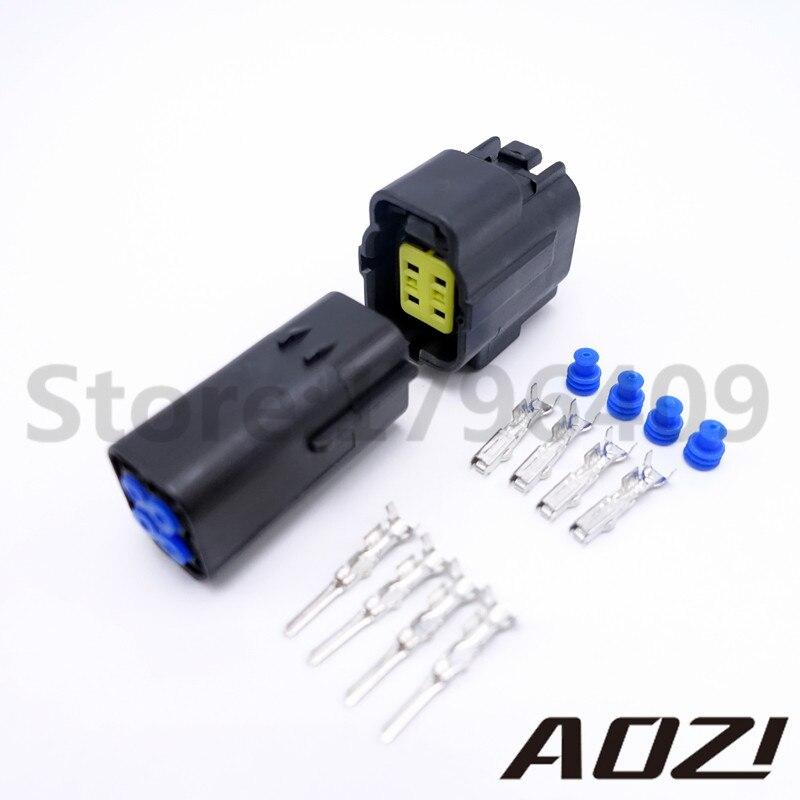 1 Set Auto Connect Plugs Black Male Female Connector AMP 1.8 4 Pins Way Car Part Wholesale цена и фото