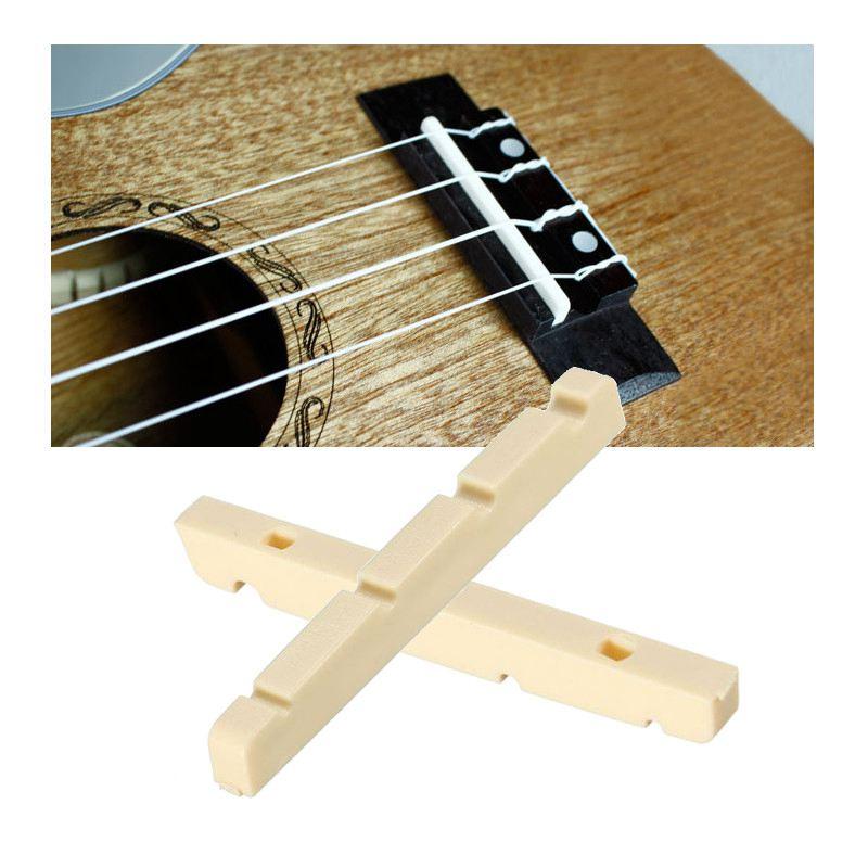 4 Cuerdas Bajo Eléctrico Guitarra Nuts Ranurado 42mm Marfil Reemplazo de Partes