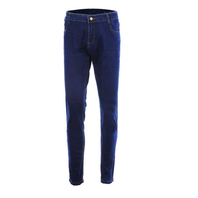 NIBESSER, мужские брендовые обтягивающие джинсы, брюки, повседневные брюки,, джинсовые черные джинсы, homme, Стрейчевые узкие брюки размера плюс, уличная одежда 3XL - Цвет: Dark Blue1