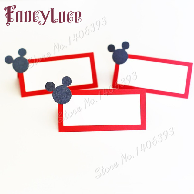 50pcs lot free shipping mickey mouse place cards seating cards