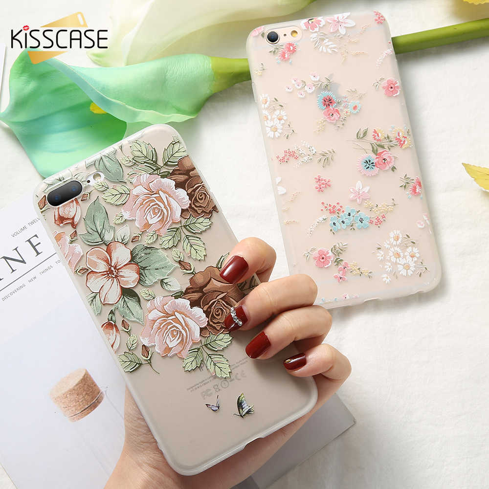 KISSCASE Phone Case For Huawei Honor 9 Lite 10 8X V9 7X 7A Floral Case Silicon Soft Cover For Huawei Honor 8X Nova 3 2 Plus Capa