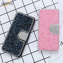 Kisscase люкс Полный диаманта Bling Флип кожаный чехол для Samsung Galaxy S7 S7 края Шелковый Стенд Wallet Обложка для Galaxy S7 S7 край