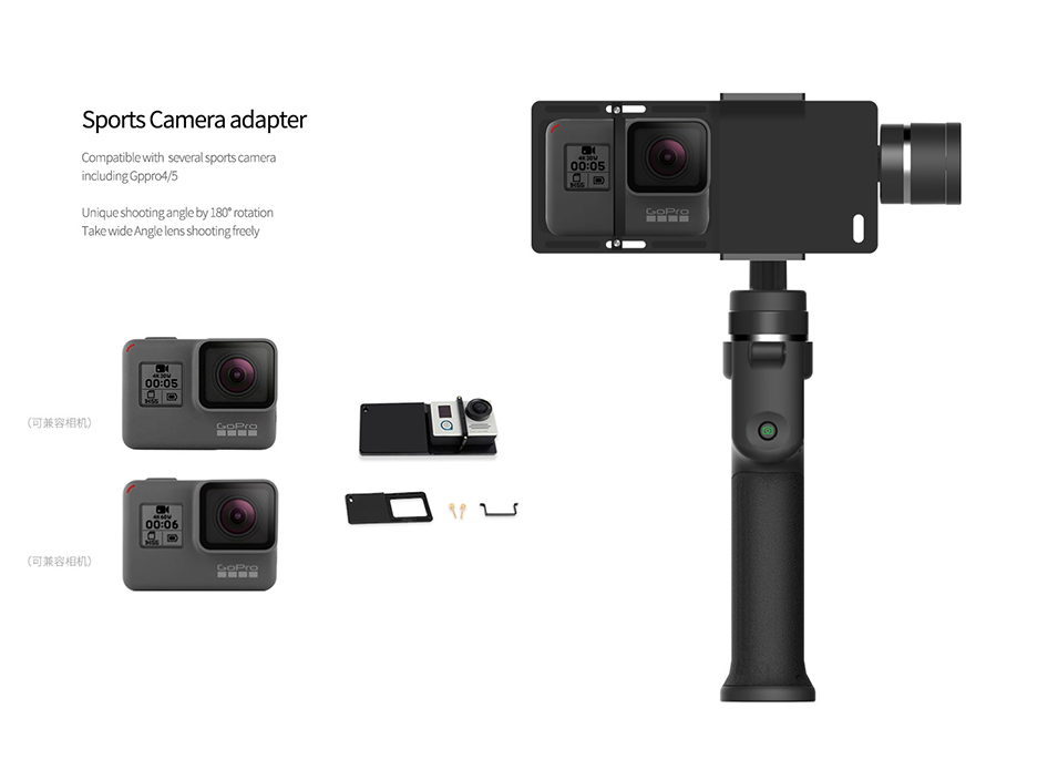Capture 3-Axis Handheld Gimbal Stabilizer Face tracking Motorized Steadycam for iPhone X Samsung S8 Huawei P Pro 15
