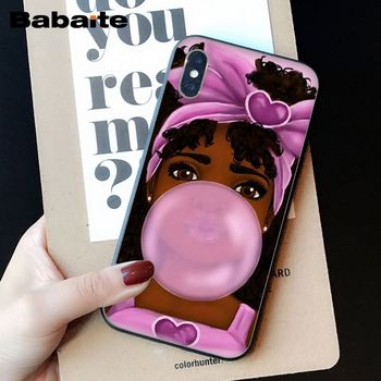 OUJDA Mélanine Poppin Aba fille DIY Impression Dessin Phone Case cover Shell pour iPhone 6 s 6 plus 7 7 plus 8 8 Plus X Xs MAX 5 5S XR 1