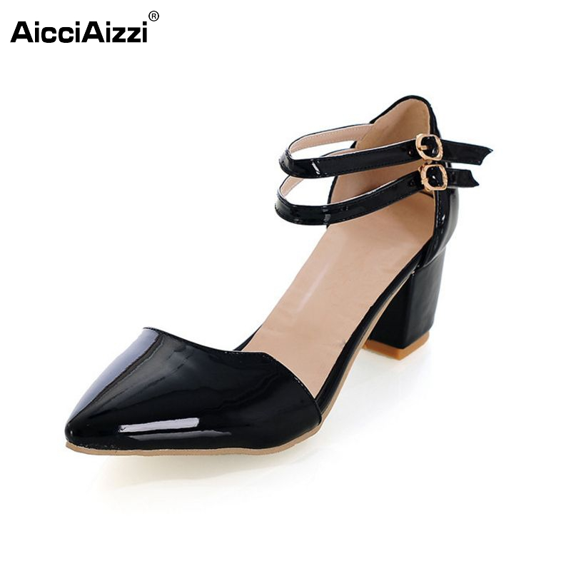 women pointed toe ankle strap high heel sandals summer sexy fashion ladies heeled footwear heels shoes size 31-43 P16670 women summer ankle pointed toe sexy sandals high heels shoes