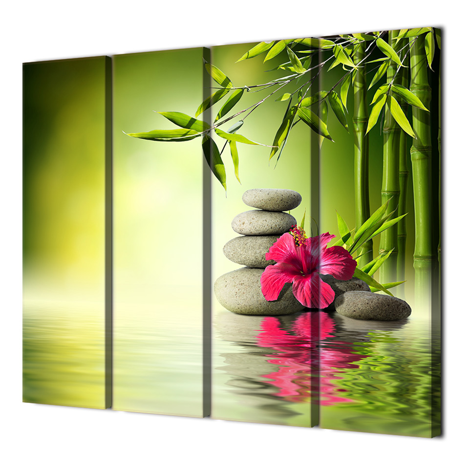 4 piece canvas wall pictures for living room chinese wall canvas ...