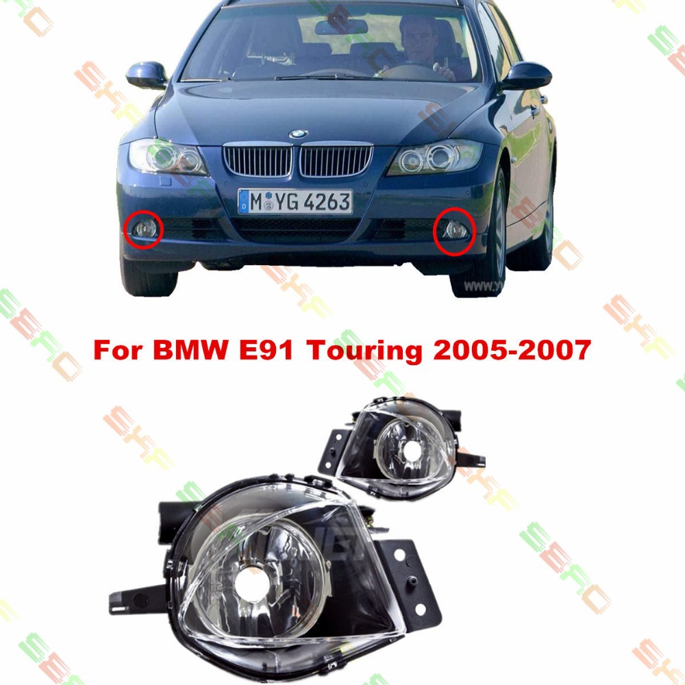 For BMW E91  2005/06/07  car styling fog lights fog lamps  1 SET цена 2017